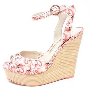 Sophia Webster Lula Dreamy Flamingo Wedge 37